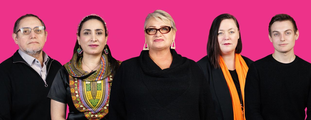 Gruppfoto på Feministiskt initiativs alla kandidater till EU-parlamentet